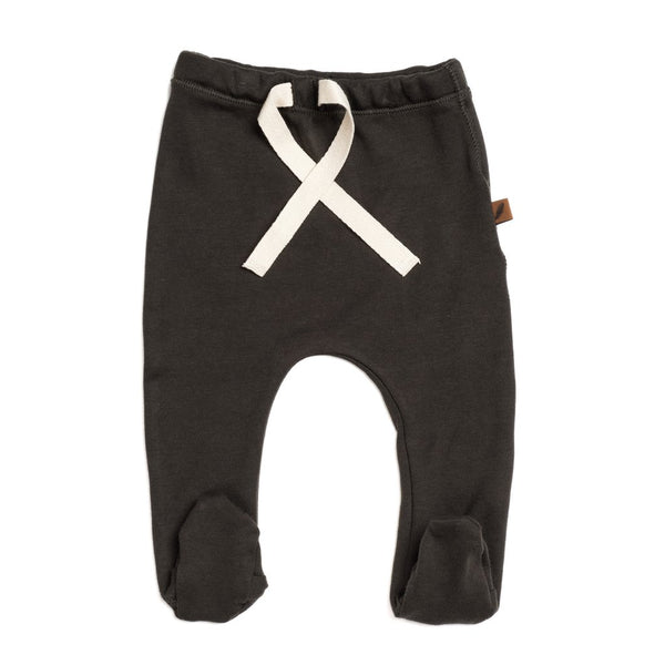 Organic Footed Pants Strumpabuxur - Slate