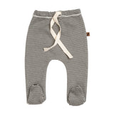 Organic Footed Pants Strumpabuxur - Stripe
