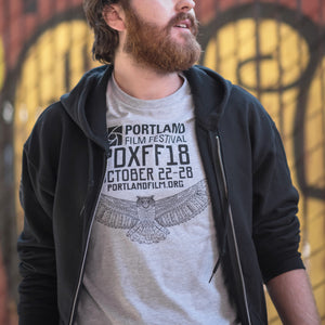 2018 Official Portland Film Festival Light Grey T-Shirt