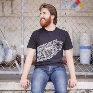 2018 Official Portland Film Festival Wing Black T-Shirt