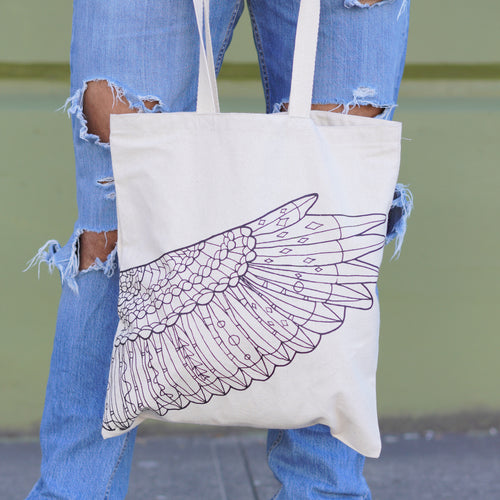 2018 Official Portland Film Festival Tan Wing Tote