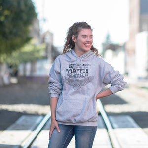 2018 Official Portland Film Festival Light Grey Pullover Hoodie