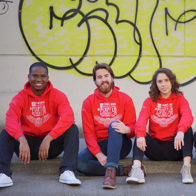 2018 Official Portland Film Festival Red Pullover Hoodie
