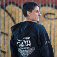 2018 Official Portland Film Festival Black Zip-Up Hoodie