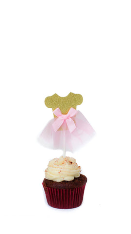 Ballerina Cake Topper - Pack of 5 - pasteldress