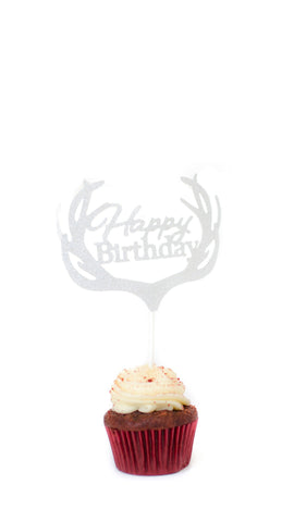Happy Birthday Cake Topper - pasteldress