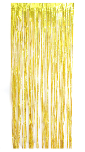 Long Metallic Fringe Photo Drape - 8 ft tall - pasteldress