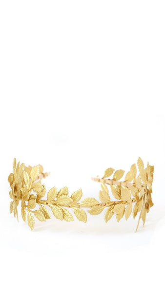 Thick Gold Leaf Headband - pasteldress