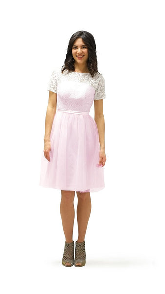 Hira Lace & Tulle Bridesmaid Dress - pastel dress