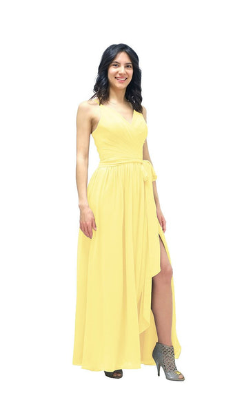 Leia Chiffon Bridesmaid Dress - pastel dress