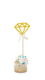 'Shine Bright Like a Diamond' Cake Topper - Pack of 5 - pasteldress