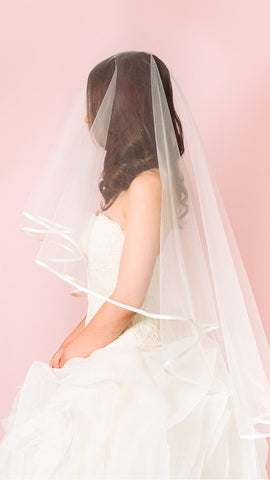 Modern Straw Edge Veil - pasteldress