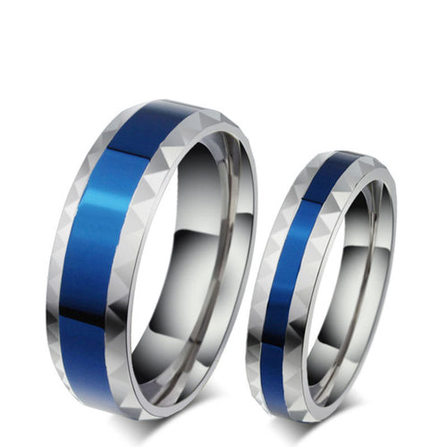 Perfect Blue Stainless Steel Ring