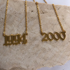Year Gold necklace
