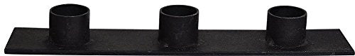 Triple Taper Candle Holder in Distressed Black Iron 8
