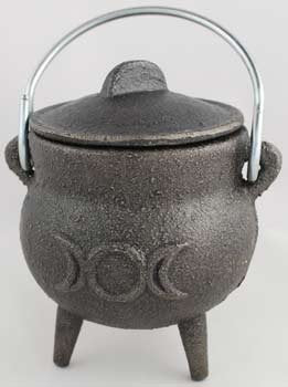 Small Triple Moon Cast Iron Cauldron