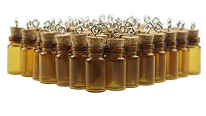 1ml Mini Amber Glass Essential Oil Jars - Pack of 60