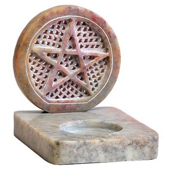 Pentacle Burner for Cones and Candles