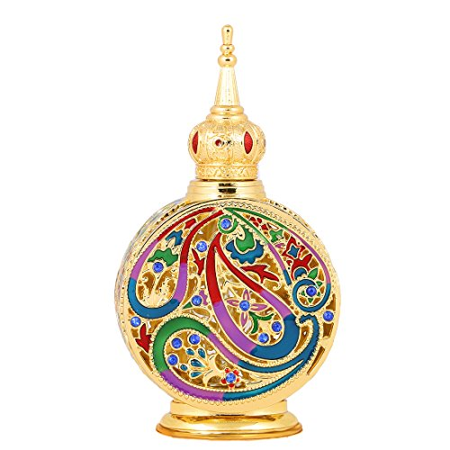 18ml Enameled Metal and Glass Perfume Bottle