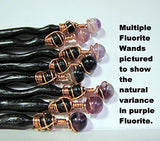 Fluorite Red Oak Wand