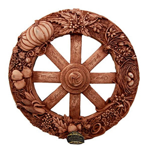 Wheel of The Year Wall Plaque Featuring Eight Pagan Festivals