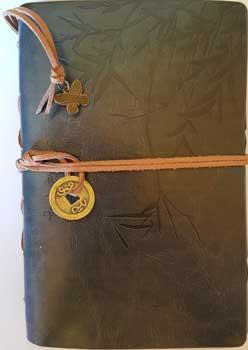 Grey I Ching Bamboo Leather Journal