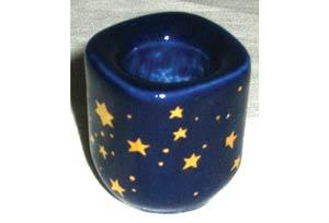 Cobalt Ceramic Starry Chime Holder