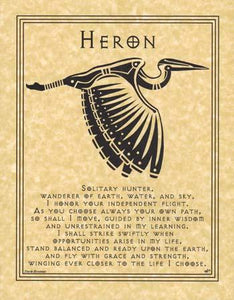 Heron Prayer Poster