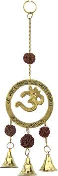 Om With Rudraksha Wind Chime