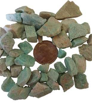 1 Lb Amazonite Untumbled Stones