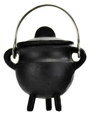 Plain Cast Iron Cauldron  W- Lid 2 3-4