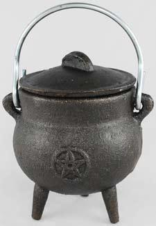 Pentagram Cast Iron Cauldron 3