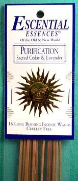 Purification Escential Essences Incense Sticks 16 Pack