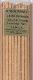 Sandalwood Anna Riva Incense Stick 22 Pack