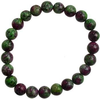 8mm Ruby Zoisite Bracelet(dyed Stone)