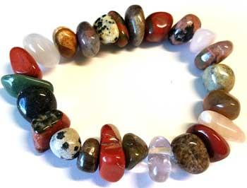 Mixed Stones Gemstone Bracelet Stretch