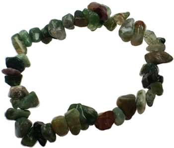 Bloodstone Chip Bracelet