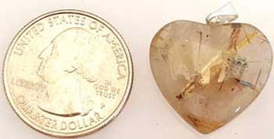 "1"" Rutilated Quartz Heart"