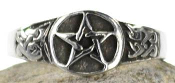 Pewter Pentagram Ring Size 12
