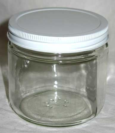 Clear Glass Jar 16 Oz