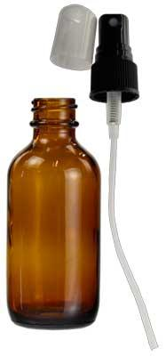 Amber Bottle With Spray 2 Oz