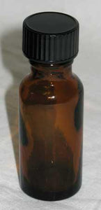 Amber Glass Bottle 1-2 Oz