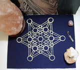 Large Crystal Grid Hand Printed Cloth