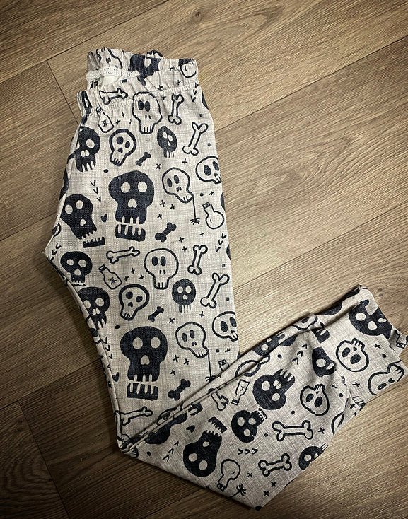 Pre Made Denim Skulls Leggings