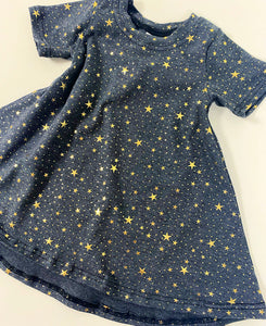 Pre Made Charcoal Star Full Skirt Dresses