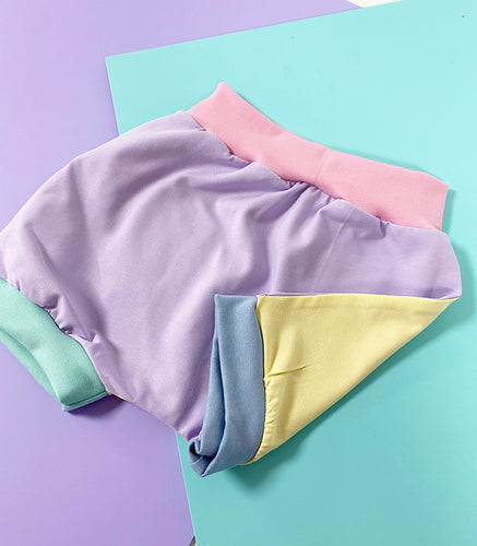 Pastel Colour Block Shorts