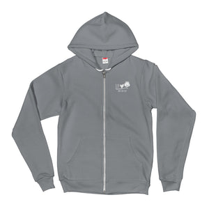 Love Cotton Zip-Front Hoodie