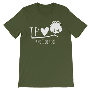 JPlovesCOTTON and I do too! Short-Sleeve Unisex T-Shirt