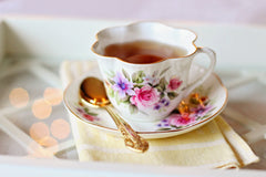teacup and tea saucer for afternoon tea