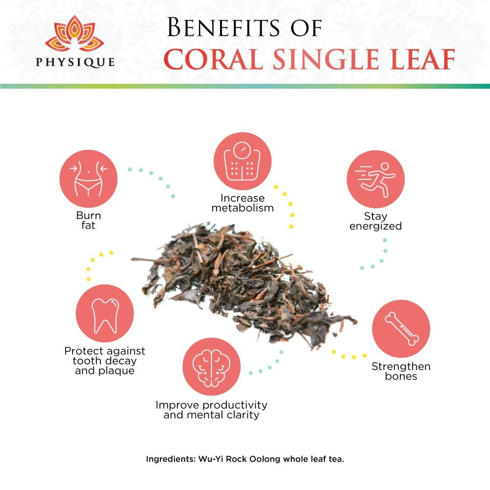 Coral Weight Loss and Focus Tea- Large - Physique Tea